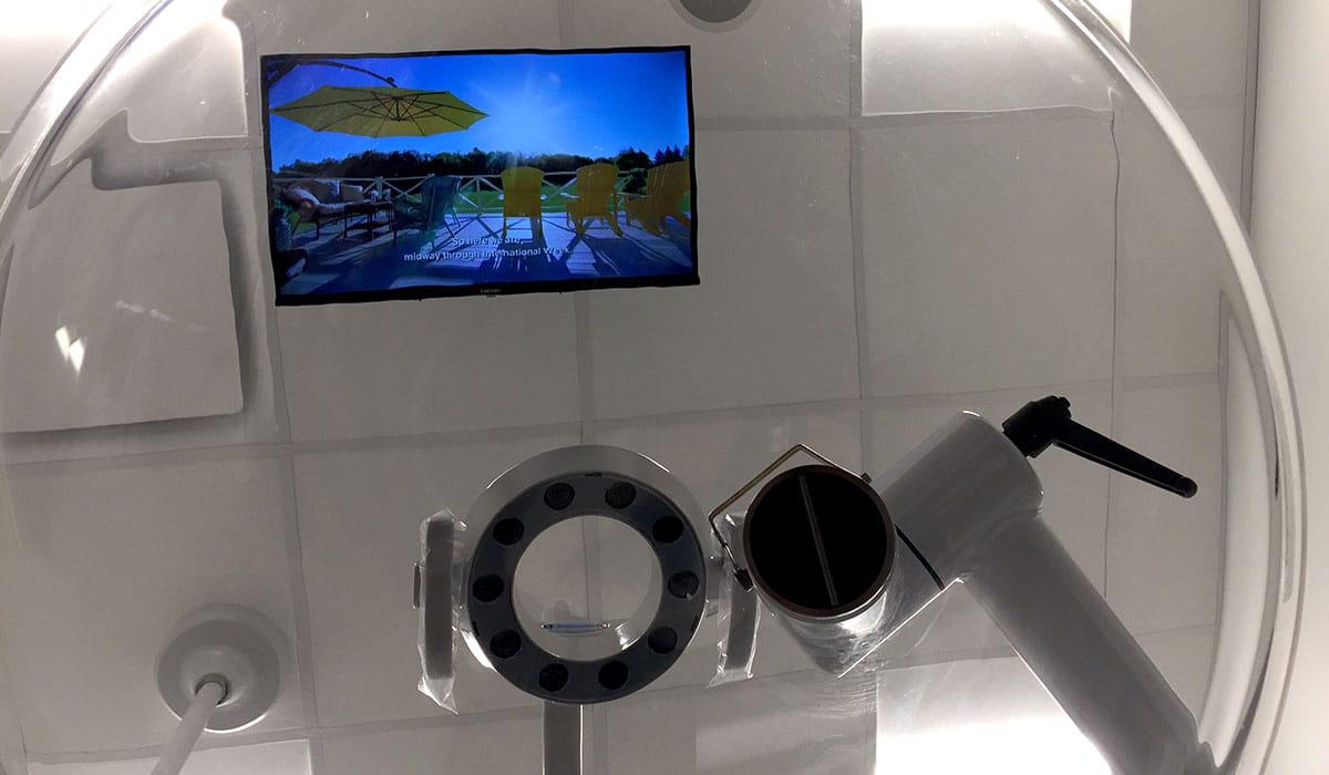 patient view of AIIR machine