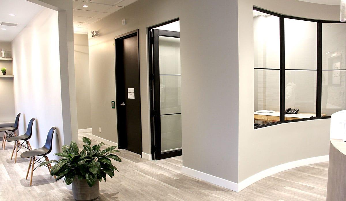 consultation room in dental office