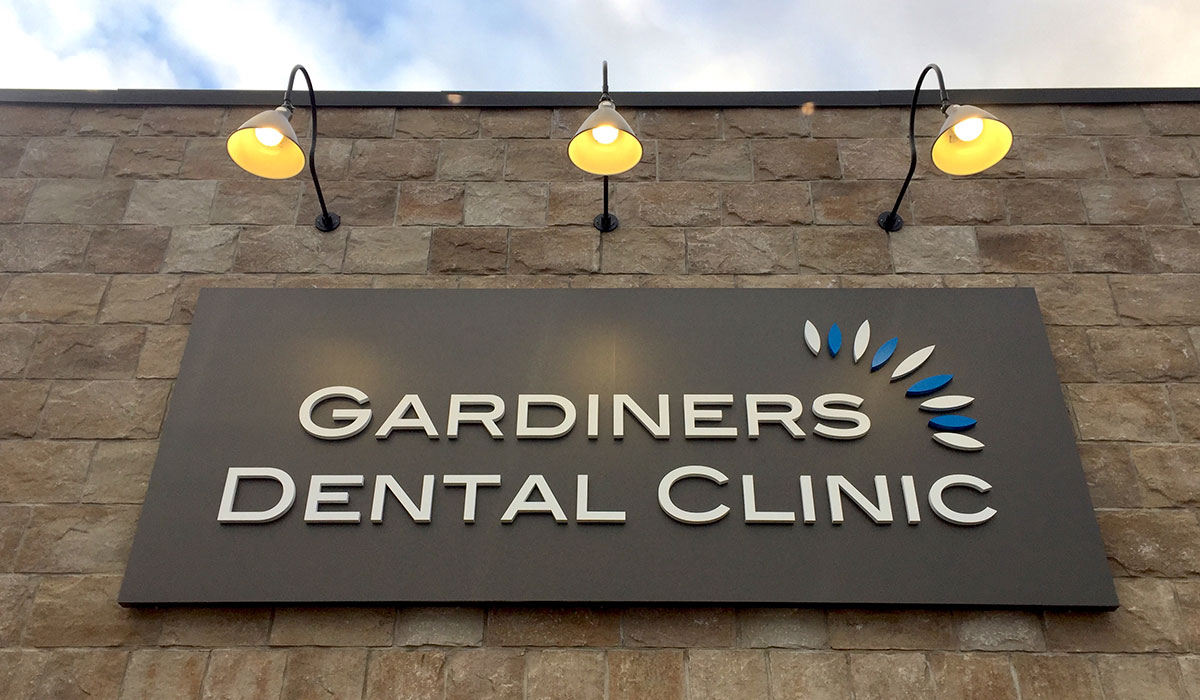 outdoor sign for Gardiners Dental Clinic